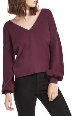 Miss Selfridge Twist Back V-Neck Sweater