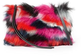 McQ - Alexander McQueen Faux Fur Pouch $320 thestylecure.com