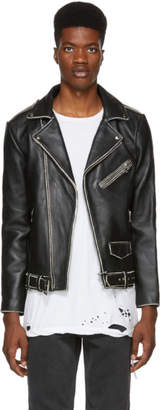 Stolen Girlfriends Club Black Distressed Leather Joey Jacket