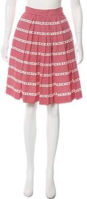 Miu Miu Printed Knee-Length Skirt