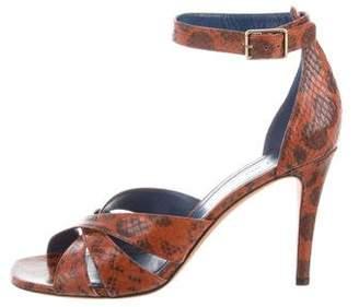 Celine Crossover Snakeskin Sandals