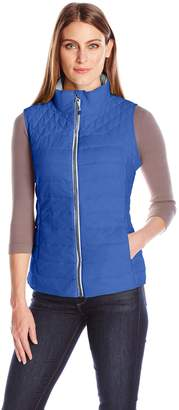 Details Women's Zip Front Quilted Fashion Vest