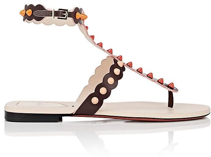 Fendi Women's Studded Leather Gladiator Sandals