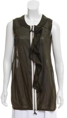 Marni Sleeveless Zip-Up Top