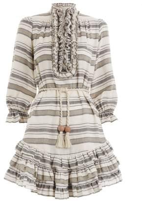 Zimmermann Juno Stripe Frill Short Dress