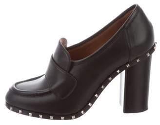 Valentino Soul Rockstud Leather Loafer Pumps Black Soul Rockstud Leather Loafer Pumps