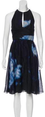 Lela Rose Printed Sleeveless Dress