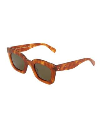 Celine Oversized Square Plastic Sunglasses $219 thestylecure.com