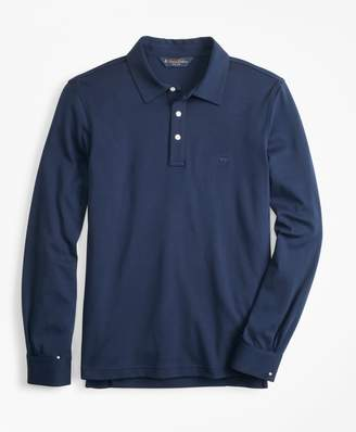 Brooks Brothers Original Fit Cotton Jersey Long-Sleeve Polo Shirt