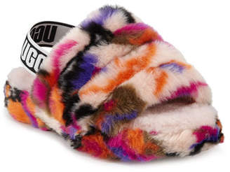 UGG Fluff Yeah Faux Fur Slide Slippers, Kids