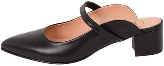 Manu Mari Black, Leather, Mules