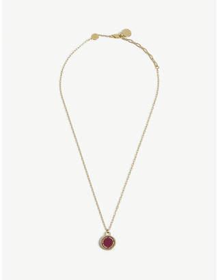 Marc Jacobs Enamel logo disc necklace
