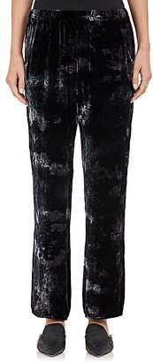 Raquel Allegra Women's Tie-Dyed Velvet High-Waist Pants