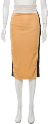 Balenciaga Color-Block Pencil Skirt