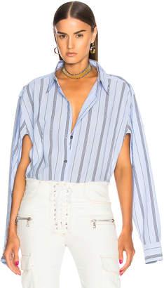 Unravel Deconstructed Shirt Bodysuit