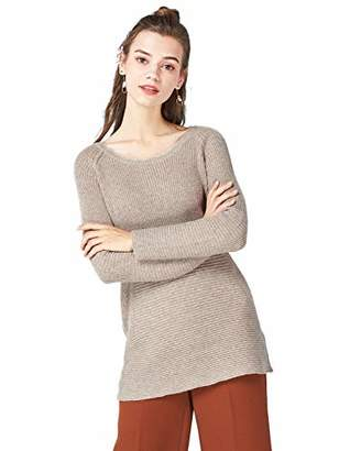 Peplum Pointe Women's Winter Chunky Crew Neck Ribbed Long Knit Pullover Soft Sweater (