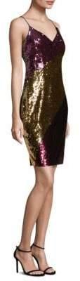Aidan Mattox Sequin Slip Dress