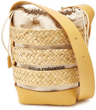 Paco Rabanne Leather and Cotton Cage Hobo Medium