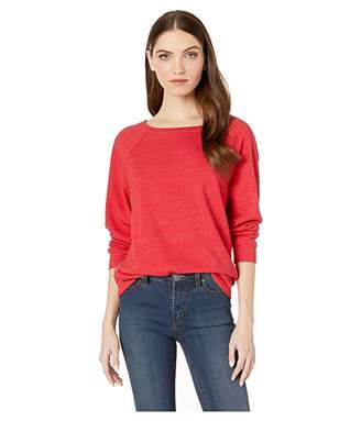 Michael Stars Meghan Lounge Jersey 3/4 Sleeve Boat Neck Pullover