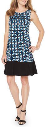 Ronni Nicole Sleeveless Geometric Shift Dress
