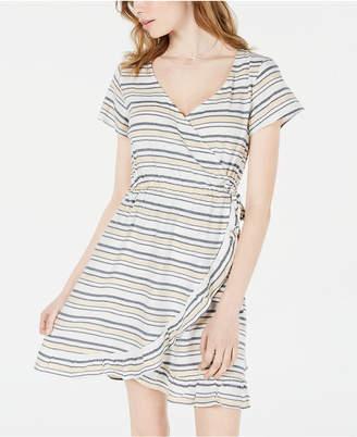 c7f992f3d Roxy Juniors' Sun Dreamer Striped Faux-Wrap Dress