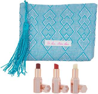 Josie Maran Lip Butter Trio w/ Makeup Bag