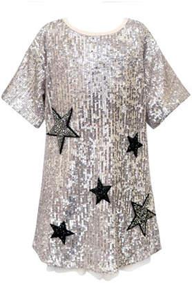 Hannah Banana Girl's Sequined Star Dress, Size 4-6X