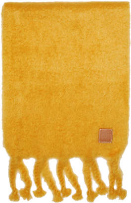 Loewe Yellow Mohair Fringe Scarf