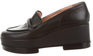 Robert Clergerie Leather Yokole Loafers $175 thestylecure.com