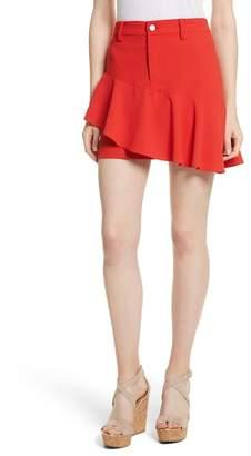 Alice + Olivia Nisa Ruffle Miniskirt