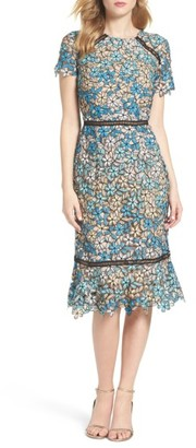 Women's Shoshanna Octavia Lace Midi Dress $418 thestylecure.com