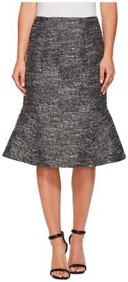 Ellen Tracy Seamed Flounce Skirt Women's Skirt