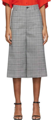 Balenciaga Black and White Houndstooth Cropped Trousers