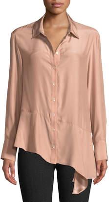 Nanette Lepore Henchman Asymmetric Silk Blouse