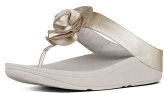 FitFlop Florrie Soft Metallic Toe-Thongs
