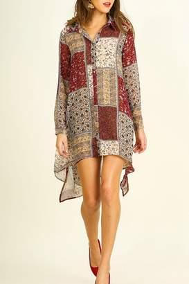 Umgee USA Print Shift Dress