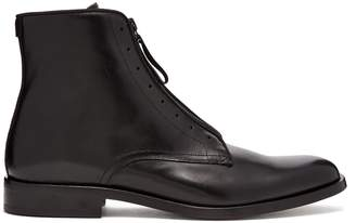 Givenchy Logo-zip leather boots