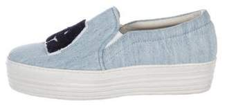 Joshua Sanders Denim Platform Sneakers