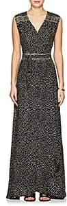 Natalie Martin Women's Danika Silk Cover-Up Dress-Cr18#4 Black & White Petal