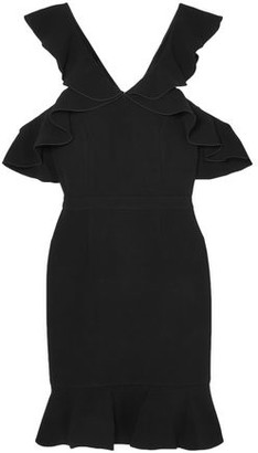 Rachel Zoe Delia Cold-Shoulder Ruffled Crepe Mini Dress