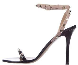 93fbae8a632e Valentino Rockstud Patent Leather Sandals