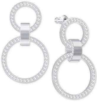 Swarovski chandelier earrings shopstyle at macys swarovski pave double hoop chandelier earrings aloadofball Image collections