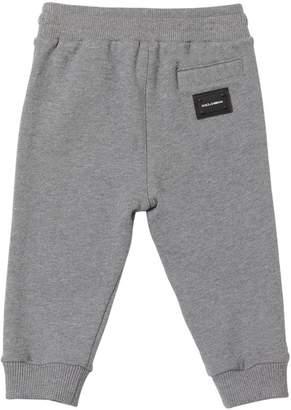 Dolce & Gabbana Logo Tag Cotton Sweatpants