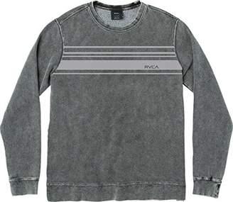 RVCA Men's Stripe Set Crewneck Sweatshirt
