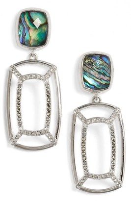 Women's Judith Jack Abalone Double Drop Earrings $150 thestylecure.com