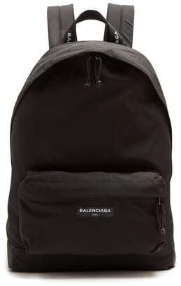 Balenciaga Explorer Coated Canvas Backpack - Mens - Black White