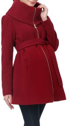 Kimi and Kai 'Mia' High Collar Maternity Coat