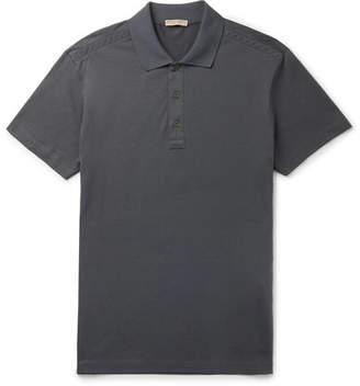 Bottega Veneta Cotton-Jersey Polo Shirt - Men - Gray