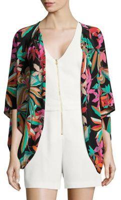 Trina Turk Floral-Print Silk Jacket $198 thestylecure.com