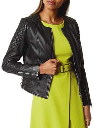 Karen Millen Collarless Leather Jacket